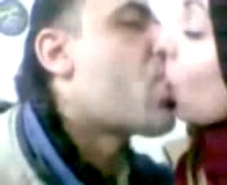 Arab lady professor kissing and sucking