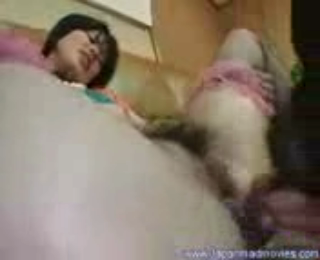 Dog and japan girl