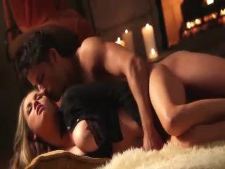 Katie Kox Enjoys Sex By The Fireplace