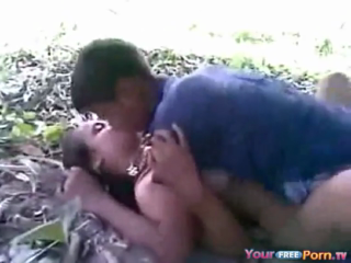 desi Village school girl fucked in jungle by two friends