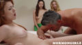 Two Daughters Watching And Learning Sex From Their Parents