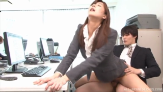 Sexy Japanese Businessgirl Getting Shagged In The Office