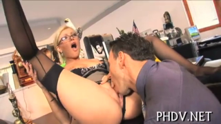 Pounded Babe Sucking With Her Boss
