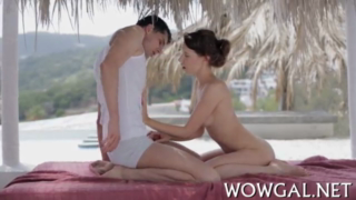 Teen Babe Oil Fucked With Outside River Beach