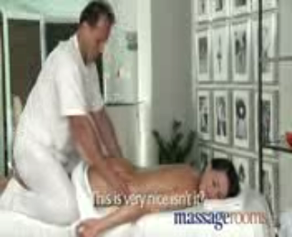 Massage Rooms Beautiful Young Girl Enjoys Orgasm