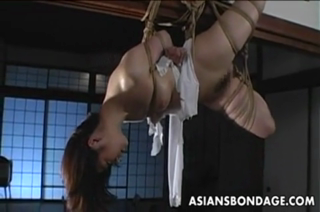 Lovely Japanese Cutie Gets Bound, Suspended, Tormented
